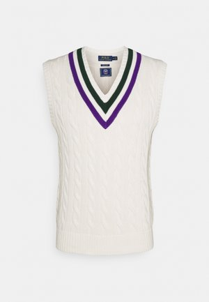 TENNIS VEST - Maglione - cricket cream