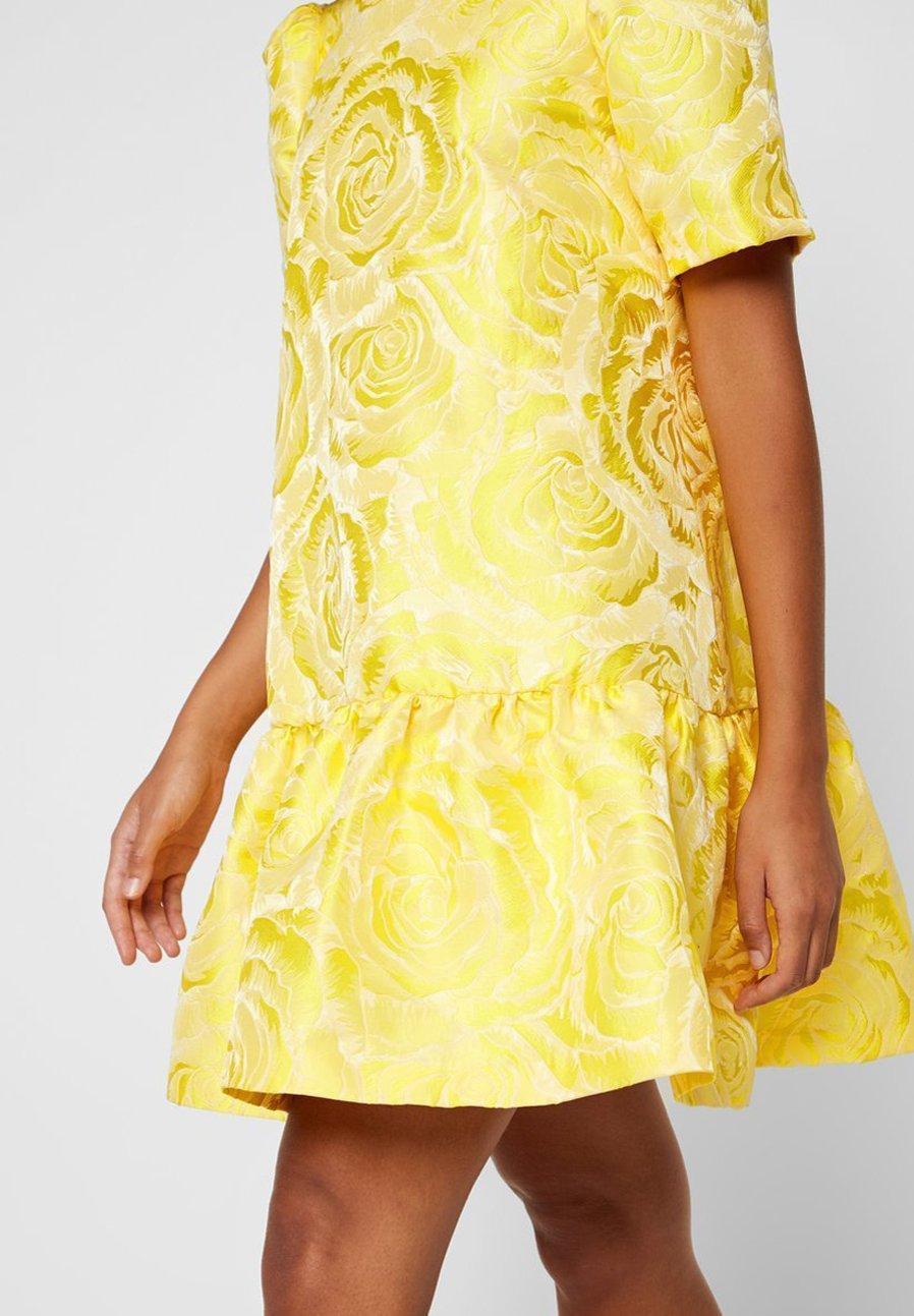 YAS YASMINNIE Freizeitkleid vibrant yellow/gelb