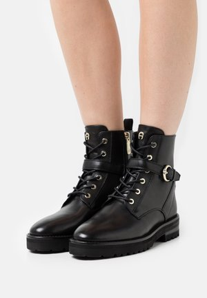 AVA  - Lace-up ankle boots - black