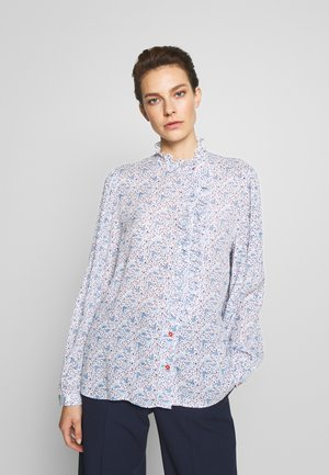 Blouse - white/light blue