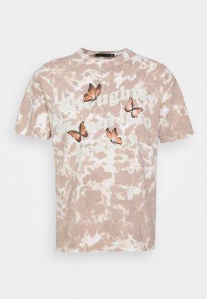 TIE DYE ROSEBOWL REALITY REGULAR - T-shirt con stampa - tan