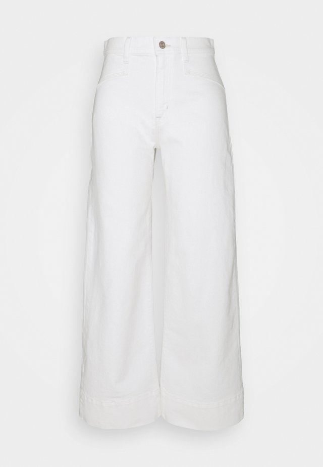 WIDE LEG - Relaxed fit jeans - ecru