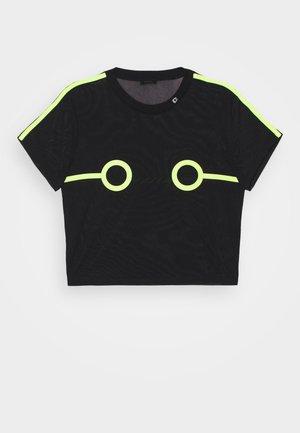 UFTEE-ROUNDFEM-M - Pyjama top - black/lemon
