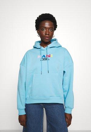 RETRO HOODIE - Sweatshirt - light blue