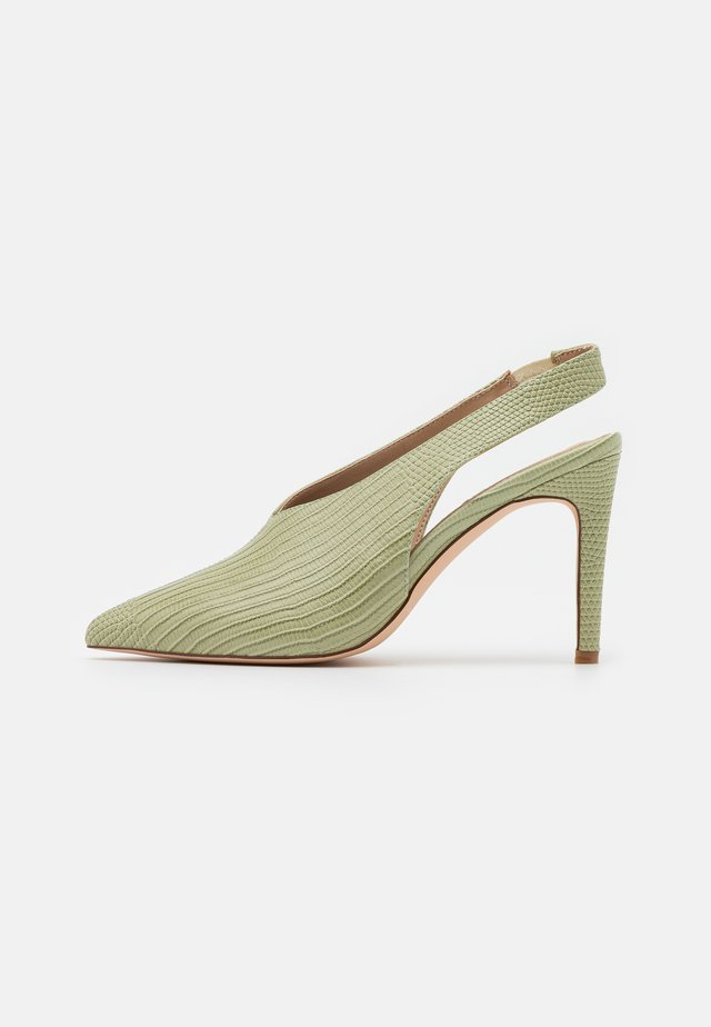 SEAM DETAILED SLINGBACK  - High Heel Pumps - lime
