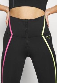 Puma - TRAIN BONDED ZIP HIGH RISE FULL - Leggings - black/pink/yellow - 6
