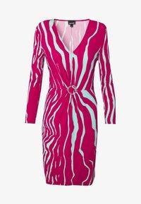 Just Cavalli - Pouzdrové šaty - magenta/mint variant - 4