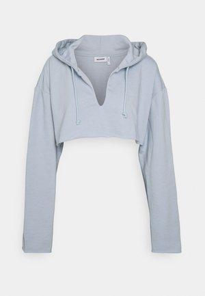 SLASHFRONT HOODIE - Hoodie - light blue
