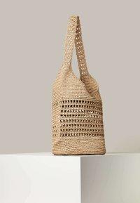OYSHO - OPENWORK - Handbag - beige - 2
