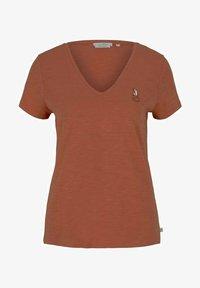 TOM TAILOR DENIM - Print T-shirt - sundown coral - 4