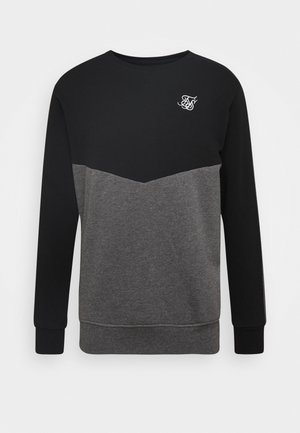 CUT AND SEW CREW - Felpa - black/grey marl