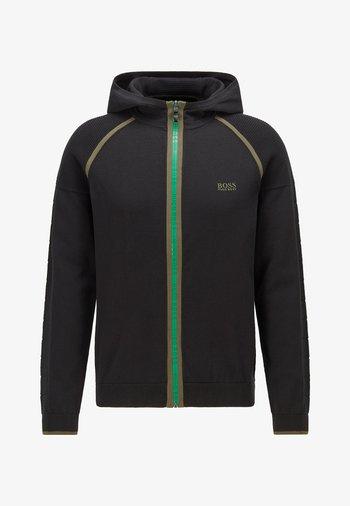 MOGEO - Sweater met rits - black