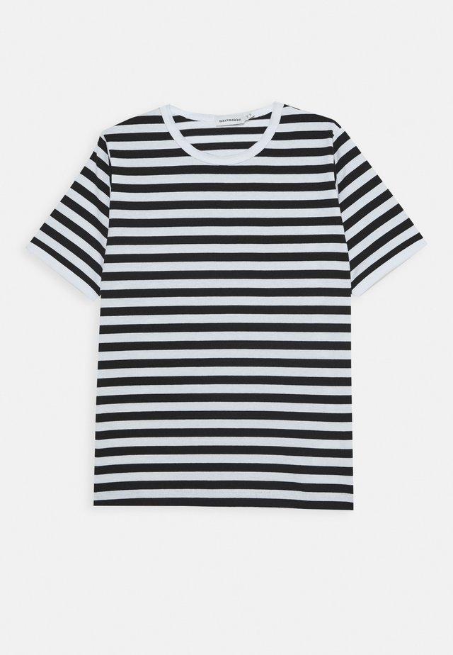 LASTEN LYHYTHIHA - T-shirt con stampa - white/black