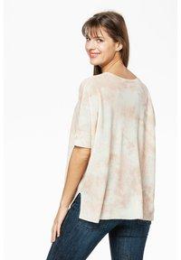 Rosa & Me - Print T-shirt - braun/weiß - 1