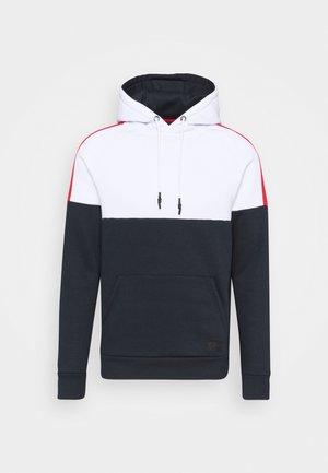 SIGMUND - Sweatshirt - optic white/dark navy/red