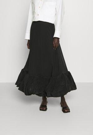 ALLEGRA SKIRT - Maxi skirt - black/black