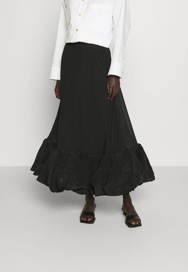 ALLEGRA SKIRT - Falda larga - black/black