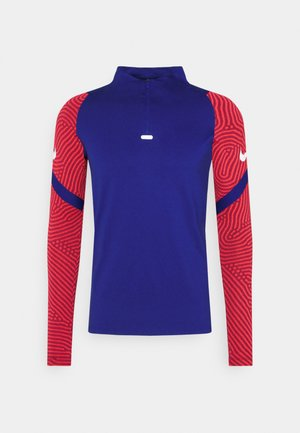 DRY STRIKE DRILL - T-shirt de sport - deep royal blue/dark beetroot/white