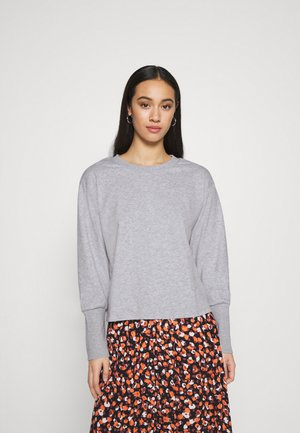 JDYDESTIN LIFE CUFF  - Sweatshirt - light grey melange