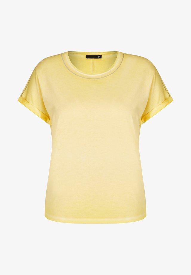 Basic T-shirt - gelb meliert