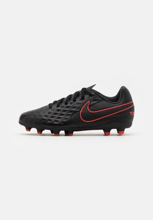 TIEMPO LEGEND 8 CLUB FG/MG UNISEX - Moulded stud football boots - black/dark smoke grey/chile red