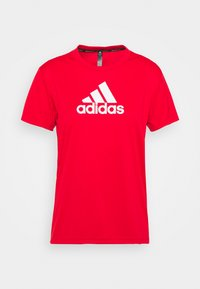 T-shirt con stampa - vivid red/white