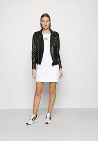 Calvin Klein Jeans - URBAN LOGO TANK DRESS - Jersey dress - bright white - 1