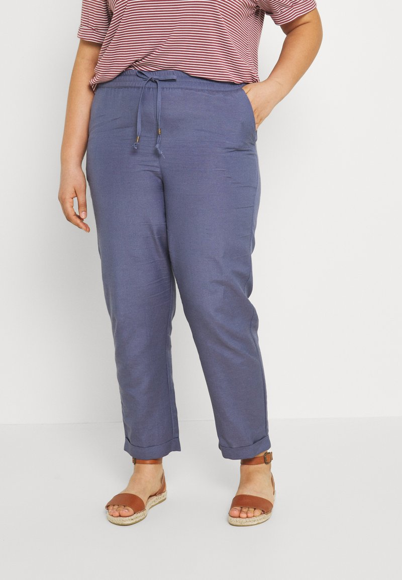 CAPSULE by Simply Be - EASY CARE  - Trousers - blue