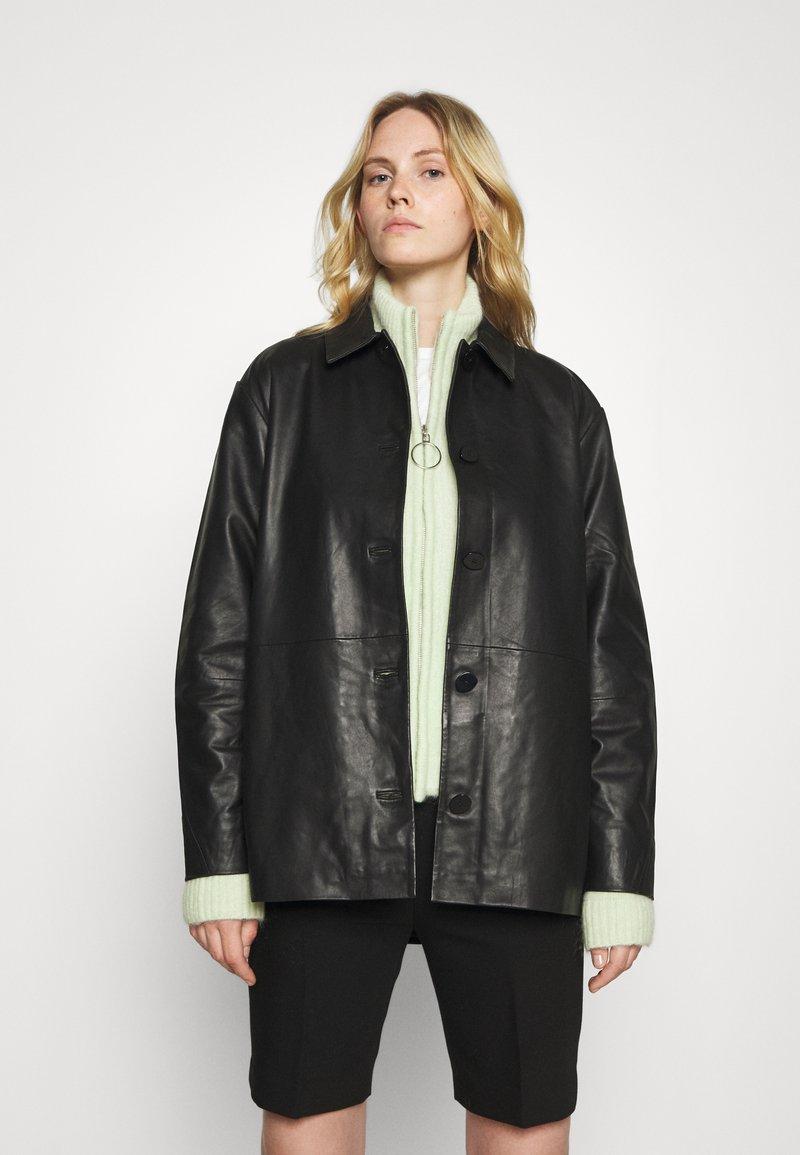 Holzweiler - FLORA JACKET  - Leather jacket - black