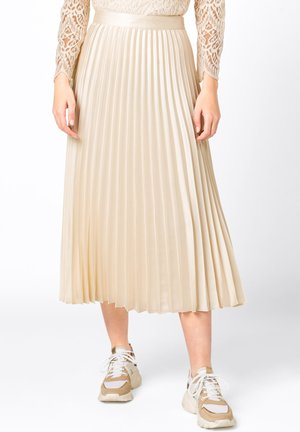 Pleated skirt - creme