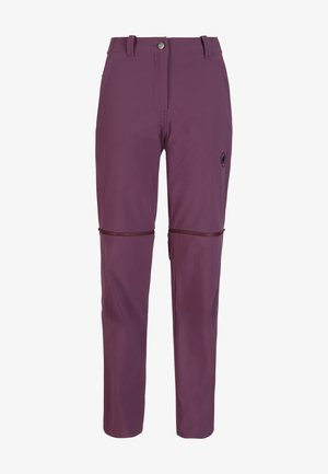 RUNBOLD ZIP OFF WOMEN - Outdoor trousers - blackberry