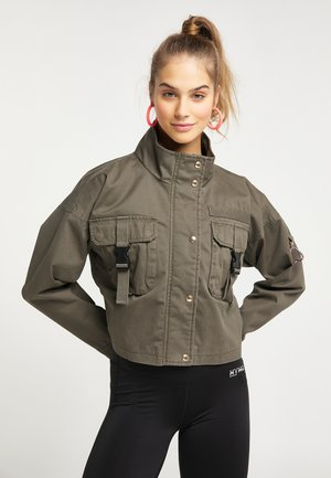 CROPPED  - Light jacket - militär oliv