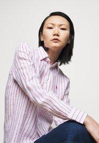 Polo Ralph Lauren - STRIPE LONG SLEEVE - Button-down blouse - white/pink - 3
