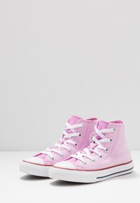 Converse - CHUCK TAYLOR ALL STAR PINSTRIPE - High-top trainers - peony pink/garnet/white - 3