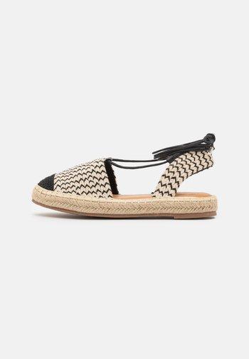 Sandals - black/beige