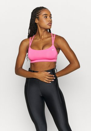 FAVORITES STRAPPY BRA - Sujetador deportivo - pink glow/white