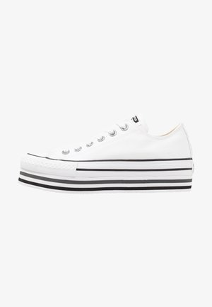 CHUCK TAYLOR ALL STAR PLATFORM LAYER - Matalavartiset tennarit - white/black/thunder