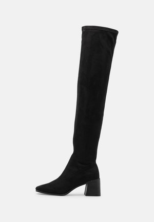 ONLBIJOU LIFE HEELED BOOT - Over-the-knee boots - black