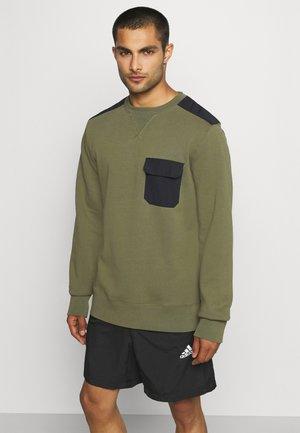 CONTRAST CREW - Sweatshirt - ivy green