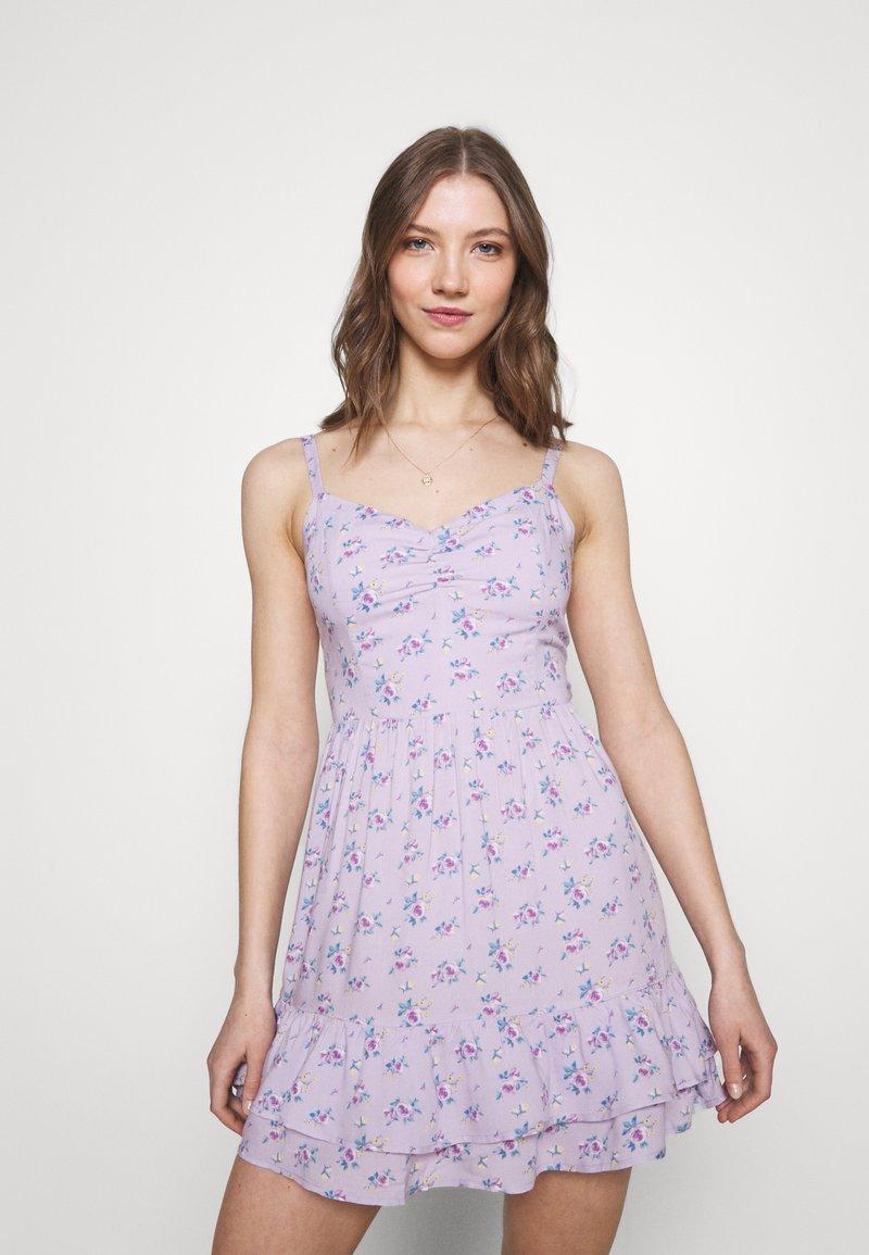 Hollister Co. - BARE SHORT DRESS - Day dress - lavender