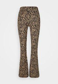 Vila - VIWINNER FLARED PANT - Leggings - brown/black - 3