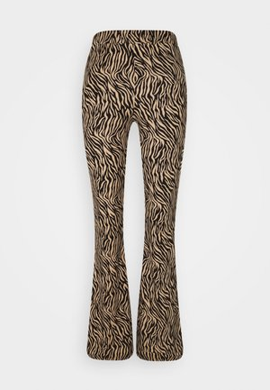 VIWINNER FLARED PANT - Leggings - Trousers - brown/black