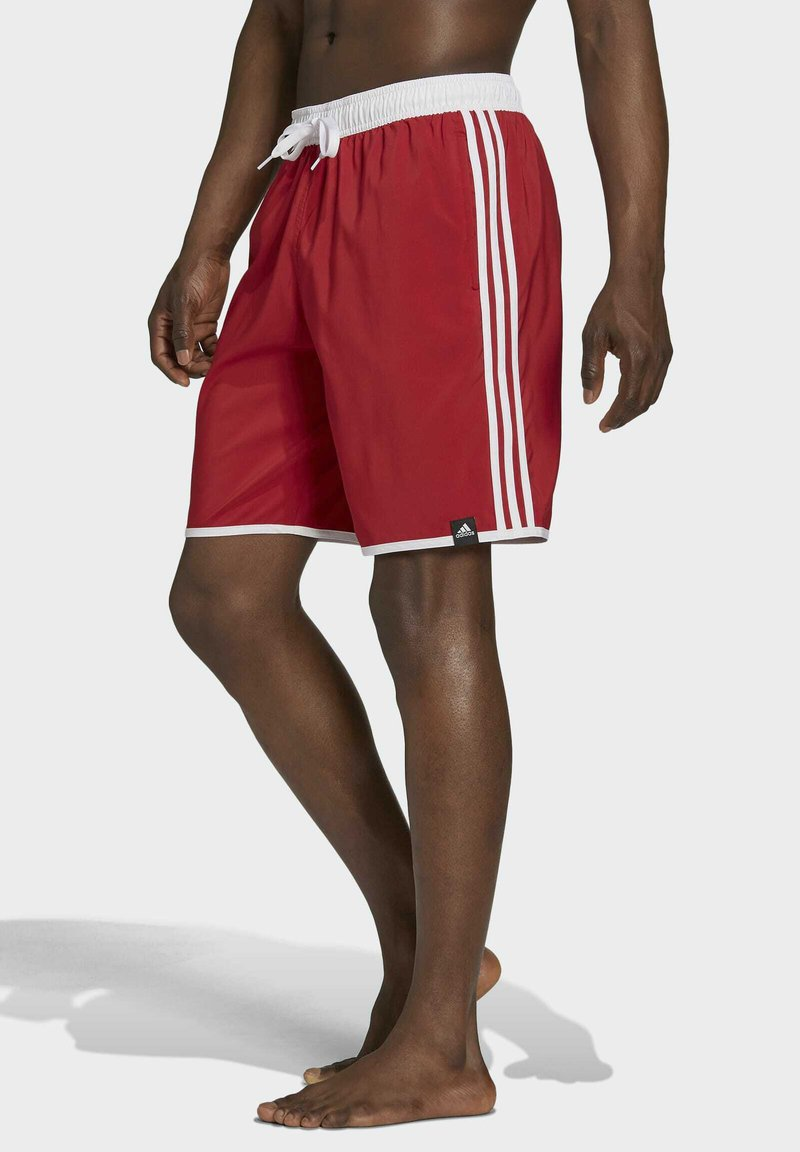 adidas Performance - 3-STRIPES CLASSICS CL SWIM SPORTS MUST HAVES PRIMEGREEN SHORTS - Swimming shorts - red