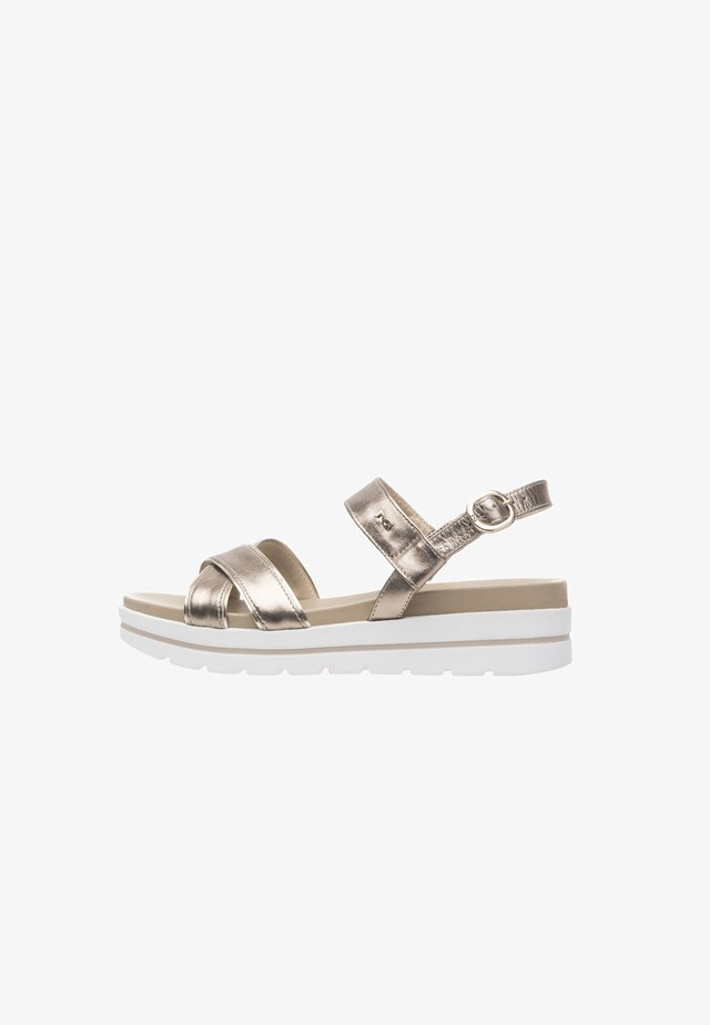 Platform sandals - bronzo