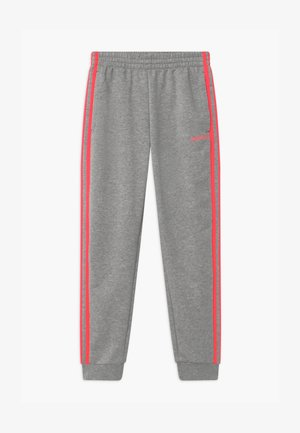 UNISEX - Tracksuit bottoms - medium grey/signal pink