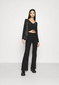 Monki - OLLE - Long sleeved top - black dark - 1