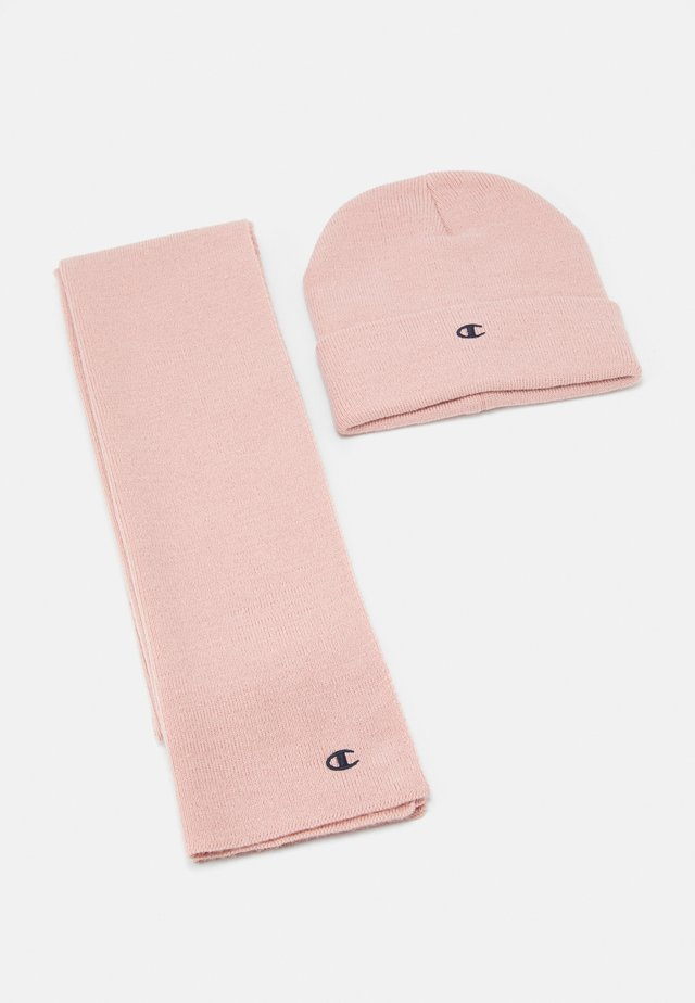 GIFT SET UNISEX - Beanie - light pink