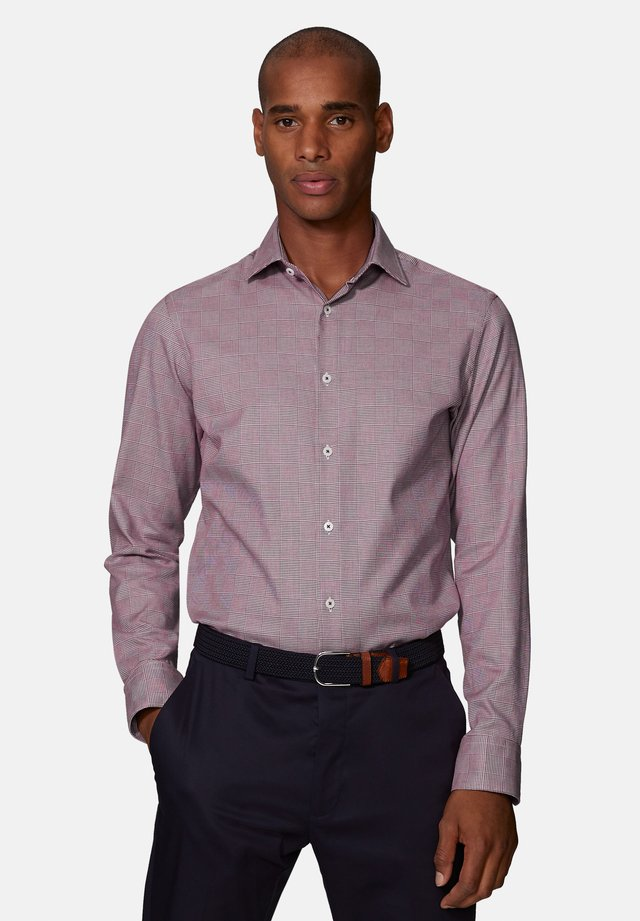 FITTED OPTICAL SHIRT - Formal shirt - burgundy