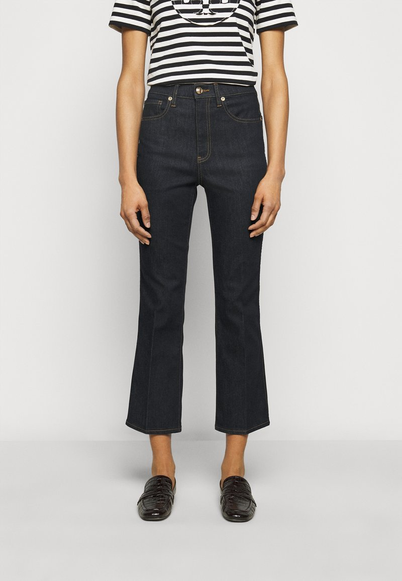 Tory Burch - CROPPED - Bootcut jeans - resin rinse
