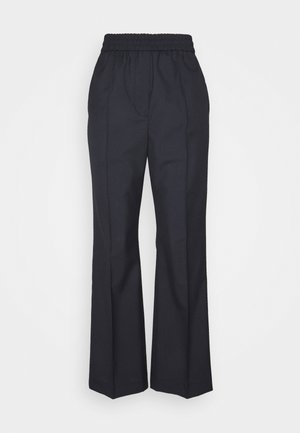 WIDE LEGGED TROUSER - Bukse - blue dark
